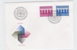 Switzerland 1984   FDC Europa CEPT (DD11-4) - 1984
