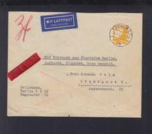Dt. Reich Expres Brief 1935 Berlin Rohrpost Luftpost Nach Stuttgart - Germany