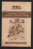 Livret Pour CHARRUES PORTEES  Des Années 50 - MASSEY HARRIS FERGUSON - 24 Pages - 12 Scan. - Machines