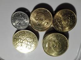 Kenya Lot 25 Coins 1970/80's AUNC / 50Cent X4 / 10Cent X10 / 5Cent X11 .SA. - Kenya