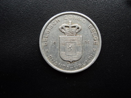 CONGO BELGE - RUANDA URUNDI : 5 FRANCS   1956 DB    KM 3      TTB+ - Congo (Belga) & Ruanda-Urundi