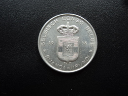 CONGO BELGE - RUANDA URUNDI : 5 FRANCS   1958 DB    KM 3      SUP+ - 1951-1960: Baudouin I