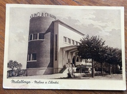 MALALBERGO MOLINO A CILINDRI  ED. FOTO. RIS.NINO TRENTINI  MALALBERGO  1938 XVII  ARCHITETTURA  FASCISTA  STILE LITTORIO - Storia