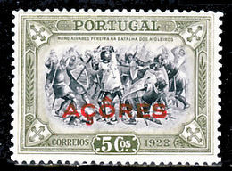 !■■■■■ds■■ Azores 1928 AF#269* Independence Third Issue 5 Battles War Armies (x12534) - Azores