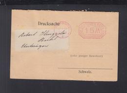Dt. Reich Drucksache 1923 Hamburg Nach Schweiz - Deutschland