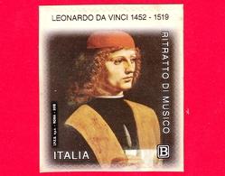 Nuovo - MNH - ITALIA - 2019 - 500 Anni Della Morte Di Leonardo Da Vinci - Ritratto Di Musico - Da BF - B - 6. 1946-.. Repubblica