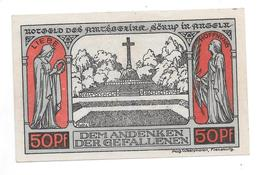 **notgeld Sorup 50 Pfennig 1231.1a Cat Val 2,00 Euro - [11] Emissions Locales