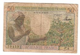 French Equatorial Africa & Cameroun 50 Francs 1957 - Coins