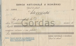 Romania - BNR - Adeverinta De Schimb Valutar Ruble - Lei - Other