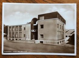 PIACENZA CASA DEL BALILLA   Ed.S.A.F. MILANO  1935 XIII  ARCHITETTURA  FASCISTA  STILE LITTORIO - Storia