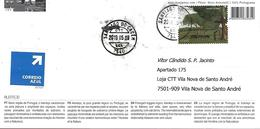 """PORTUGAL - Alentejo, The Portugal's Biggest Region - Real Circulated Postcard With Postmark From """"Santiago Do Cacém"""" - Postmark Collection"""