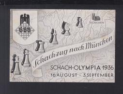Dt. Reich PK Schach Chess 1936 Gelaufen - Schach