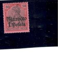 GERMAN OFFICES In MOROCCO1905: Michel 29used - Bureau: Maroc