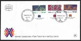 1975 - ISRAEL - FDC + Michel 639/641 [Hapoel] + JERUSALEM - FDC