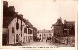 ST JEAN DE BREVELAY ENTREE DU BOURG ROUTE DE VANNES ANIMEE - Saint Jean Brevelay