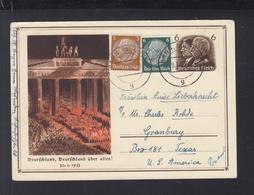 Dt. Reich GSK 1934 Ersttag Nach USA - Duitsland