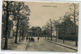 59 TEMPLEUVE Visuel Rare La Garedes Voyageurs Groupe Enfants Rue No 3 écrite Du Bourg 1919   D08 2019 - France