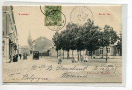 BELGIQUE WAREMME Carte RARE Rue De Huy Animation Place Edit Jeanne Waremme  écrite En 1905   D08 2019 - Waremme