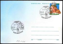 "San Marino/Saint-Marin: Intero, Stationery, Entier, ""Milanofil 2001"", Chiesa Armena, Armenian Church, Église Arménienne - Chiese E Cattedrali"