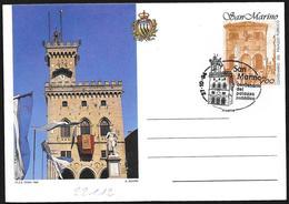 San Marino/Saint-Marin: Intero, Stationery, Entier, FDC, Palazzo Pubblico, Public Building, Palais Public - Architettura