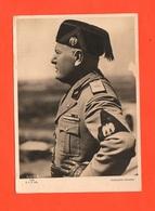 DUCE Mussolini Bromofoto Su Cartoncino In Divisa Da Alto Geraca Del PNF - Persone Identificate