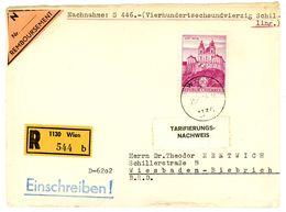Nr. 1128 EF Einschreiben / Nachnahme Nach Wiesbaden über 446 Schilling - 1945-.... 2ème République