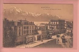 OUDE POSTKAART ZWITSERLAND  -  SCHWEIZ -    SUISSE -    MONTREUX - TRAM  1906 - ED. TRENKLER/LEIPZIG - VD Vaud