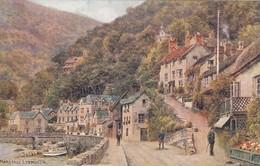 Postcard Mars Hill Lynmouth ARQ Quinton [ Salmon ] My Ref  B13230 - Lynmouth & Lynton