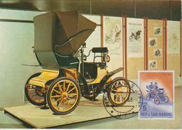 Saint Marin Carte Maximum 1962 Automobile Fiat 531 - Lettres & Documents