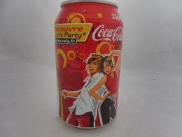 COCA COLA® CANETTE VIDE DECOUVRE LET'S PARTY 2005 FRANCE 33 Cl - Cannettes