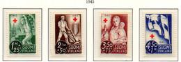PIA - FINLANDIA  - 1945 : Pro Croce Rossa - Propaganda Per La Ricostruzione   - (Yv 278-81) - Primo Soccorso