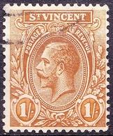 ST VINCENT 1914KGV 1/- Bistre SG117FU - Turks And Caicos