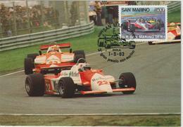 Saint Marin Carte Maximum 1983 Automobile GP Formule 1 1078 - Lettres & Documents