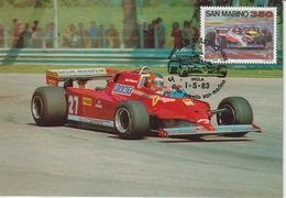 Saint Marin Carte Maximum 1983 Automobile GP Formule 1 1079 - Lettres & Documents