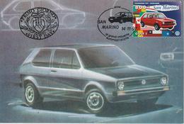 Saint Marin Carte Maximum 1997 Automobile Volkswagen 1545 - Lettres & Documents