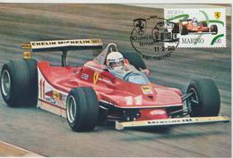 Saint Marin Carte Maximum 1998 Automobile Ferrari 312T4 1556 - Lettres & Documents