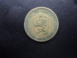 TCHÉCOSLOVAQUIE : 1 KORUNA   1968    KM 50      TTB - Czechoslovakia
