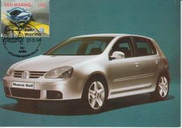 Saint Marin Carte Maximum 2004 Automobile Volkswagen 1947 - Lettres & Documents