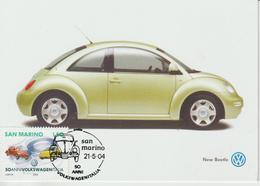 Saint Marin Carte Maximum 2004 Automobile Volkswagen 1949 - Lettres & Documents