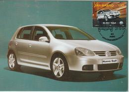Saint Marin Carte Maximum 2004 Automobile Volkswagen 1950 - Lettres & Documents