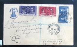Coronation 1937 Registered Cover & FDC Grenada - Grenada (...-1974)