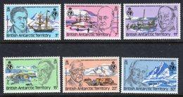 BRITISH ANTARCTIC TERRITORY BAT - 1980 ROYAL GEOGRAPHIC SOCIETY PRESIDENTS SET (6V) FINE MNH ** SG 93-98 - British Antarctic Territory  (BAT)