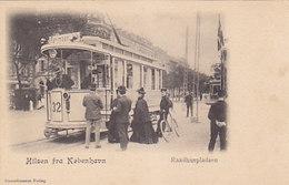 Hilsen Fra Kobenhavn - Raadhuspladsen Mit Tram-Grossaufnahme       (190507) - Dinamarca