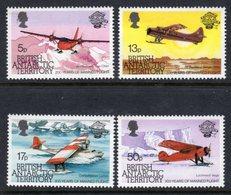 BRITISH ANTARCTIC TERRITORY BAT - 1983 MANNED FLIGHT ANNIVERSARY SET (4V) FINE MNH ** SG 119-122 - Unused Stamps