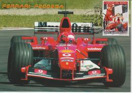 Saint Marin Carte Maximum 2005 Pilotes Ferrari M Schumacher 1980 - Lettres & Documents
