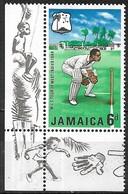 JAMAICA 1968 M.C.C.'s West Indies Tour - 6d Wicket Keeper MH - Jamaique (1962-...)