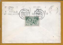 Letter With Vignette Schloss Eisfeld Castle. Stamp Of F. Zeppelin's 100 Years. Aerostat. 2nd World War. 2. Weltkrie. 2s - Duitsland