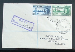 Georg VI 1945 Registered Cover & FDC Victory Fiji - Fiji (...-1970)