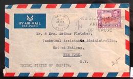 Georg VI 1951 Kenya Uganda Tanganyika 2 Sh Par Avion - Fiji (...-1970)