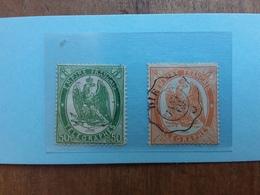 FRANCIA 1868 - Francobolli Telegrafici Nn. 6-7 Timbrati (n.6 Denti Corti Non Calcolato) + Spese Postali - Autres